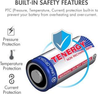 Tenergy 3V CR123A Lithium Battery