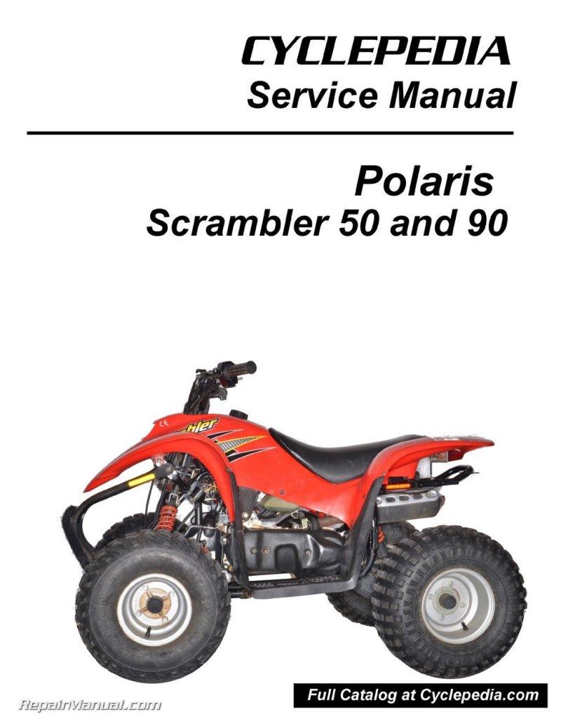 Cpp 173 P Polaris 50cc 90cc Scrambler Atv Print Service Manual By