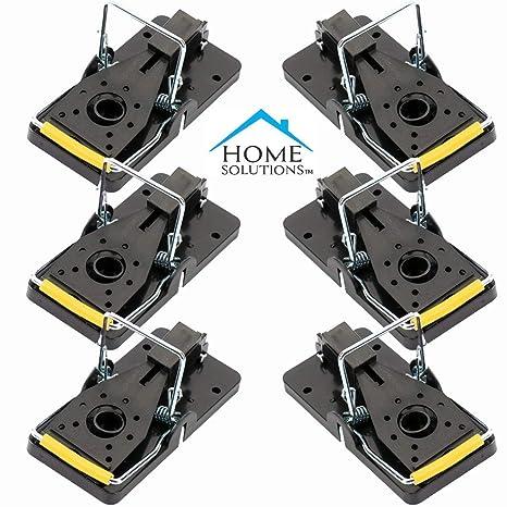 Home Solutions Trappola Per Topi 6 Pz Resistente Senza Veleno Trappola A Scatto Robusta E Riutilizzabile