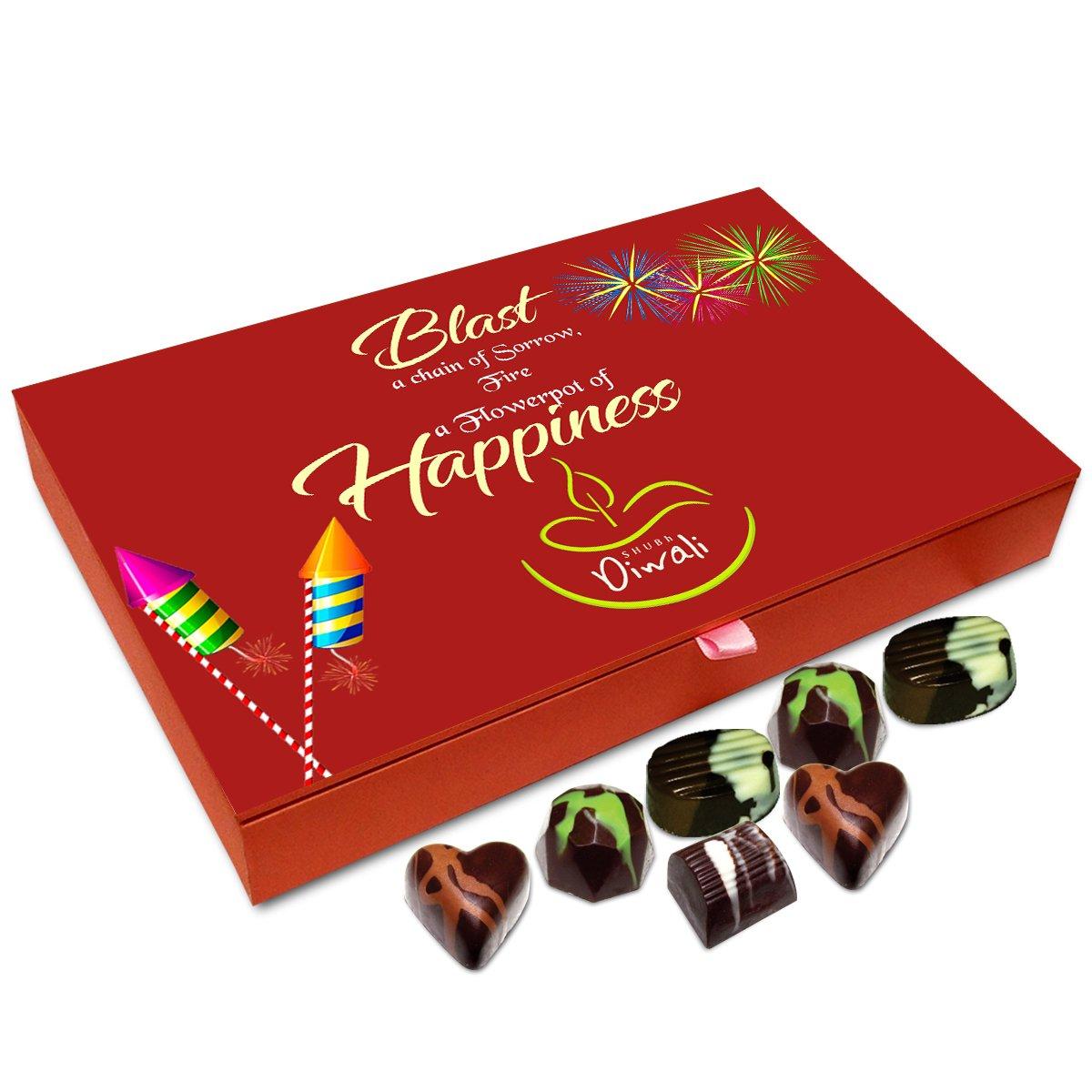 Chocholik Diwali Gift Box – Fire A Flowerpot of Happiness This Diwali Chocolate Box – 12pc