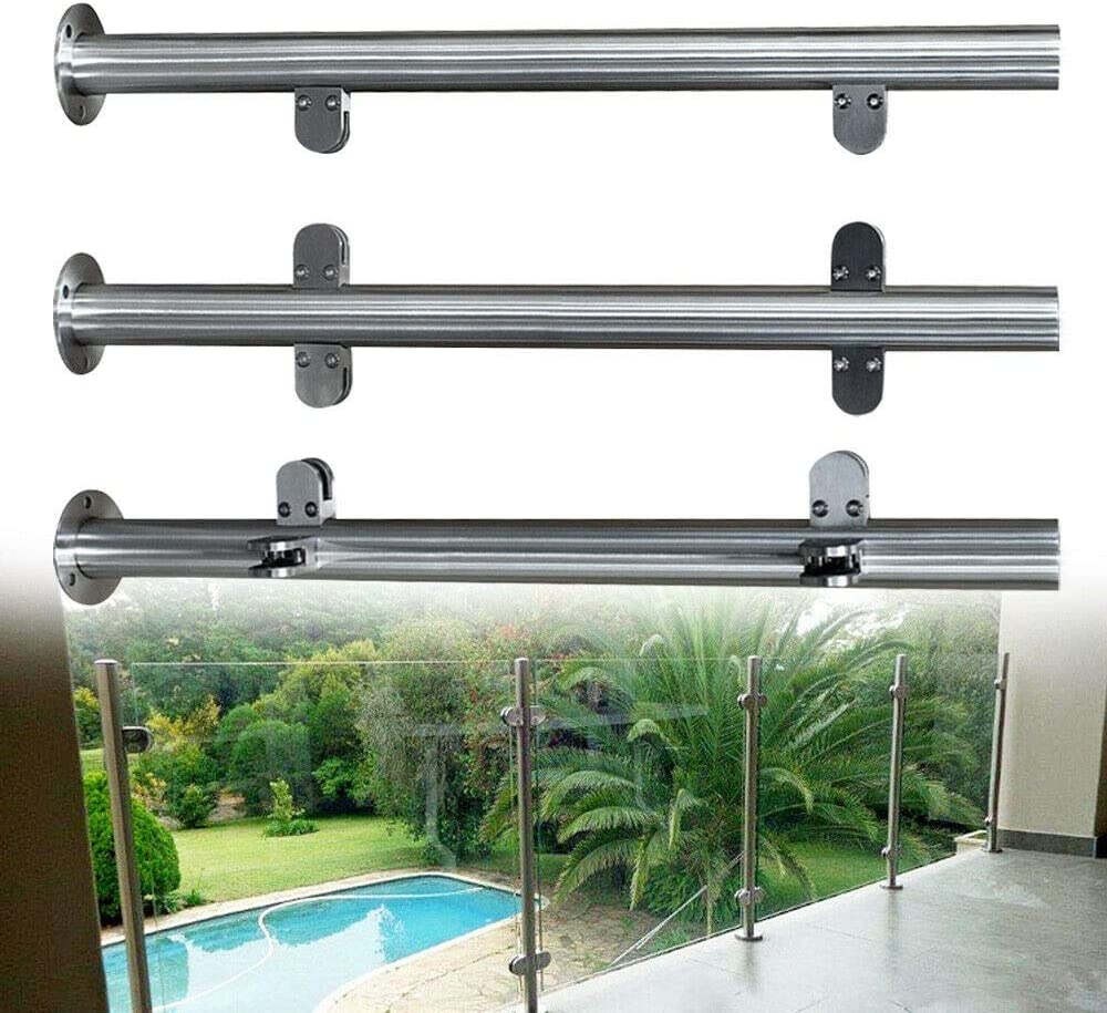 Amazon Com Nopteg 43 Glass Railing Post 304 Stainless Steel | Glass Stair Railing Systems | Iron | Custom | Contemporary | Baluster | Design
