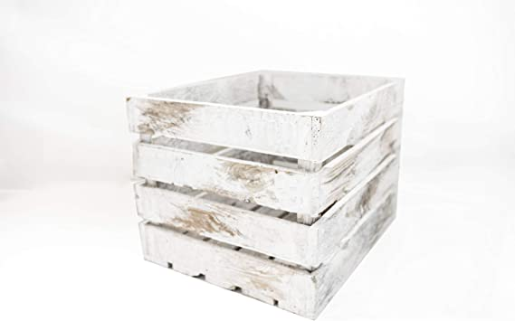 Caja de Madera Blanca Vintage Sam, Pino, 1 Unidad, Caja