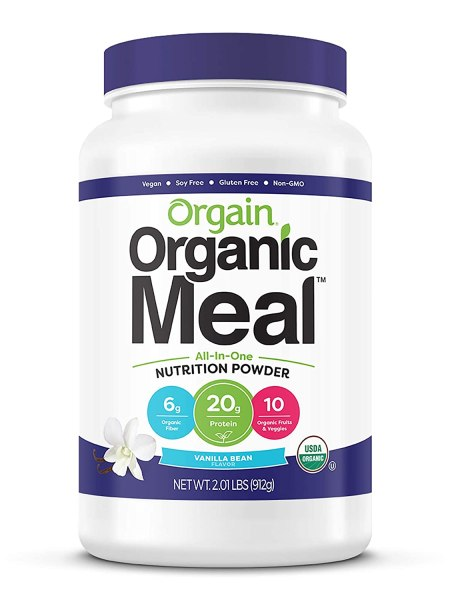 Orgain Organic Plant Based Meal Replacement Powder, Vanilla Bean