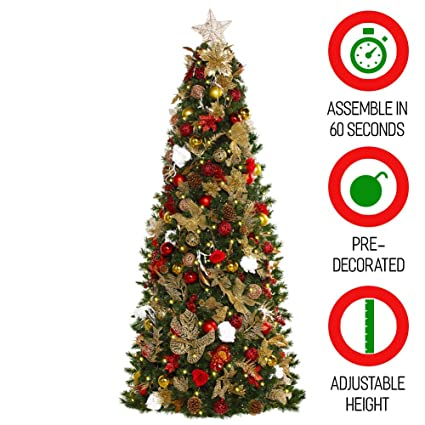 Easy Treezy 7 5ft Prelit Christmas Tree Setup Storage In 60 Seconds
