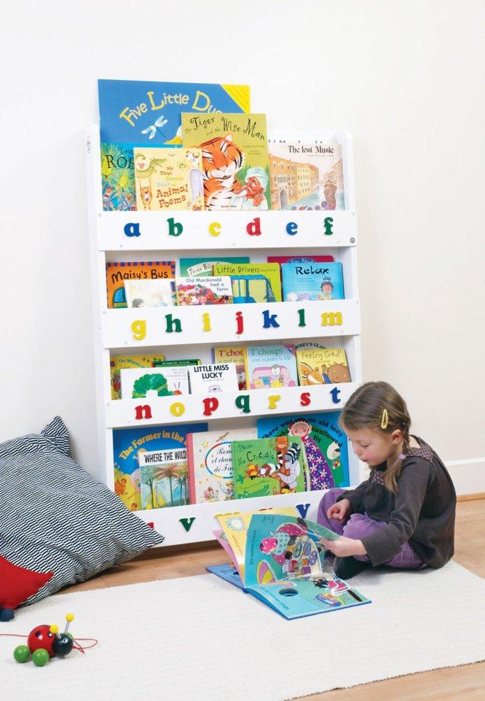 Ideas de estanterías útiles para los libros de los niños