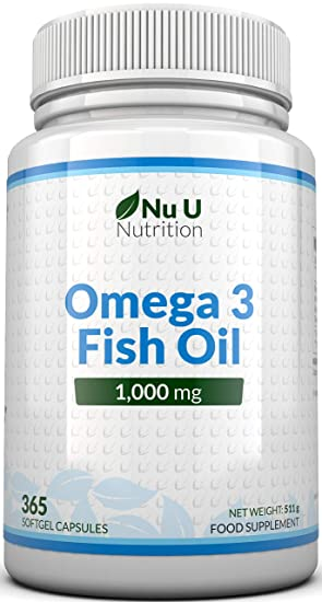 Omega 3 Fish Oil 1000mg 365 Softgels 1 Year Supply Pure Fish Oil With Balanced Epa Dha Contaminant Free With Omega 3 Made In The Uk