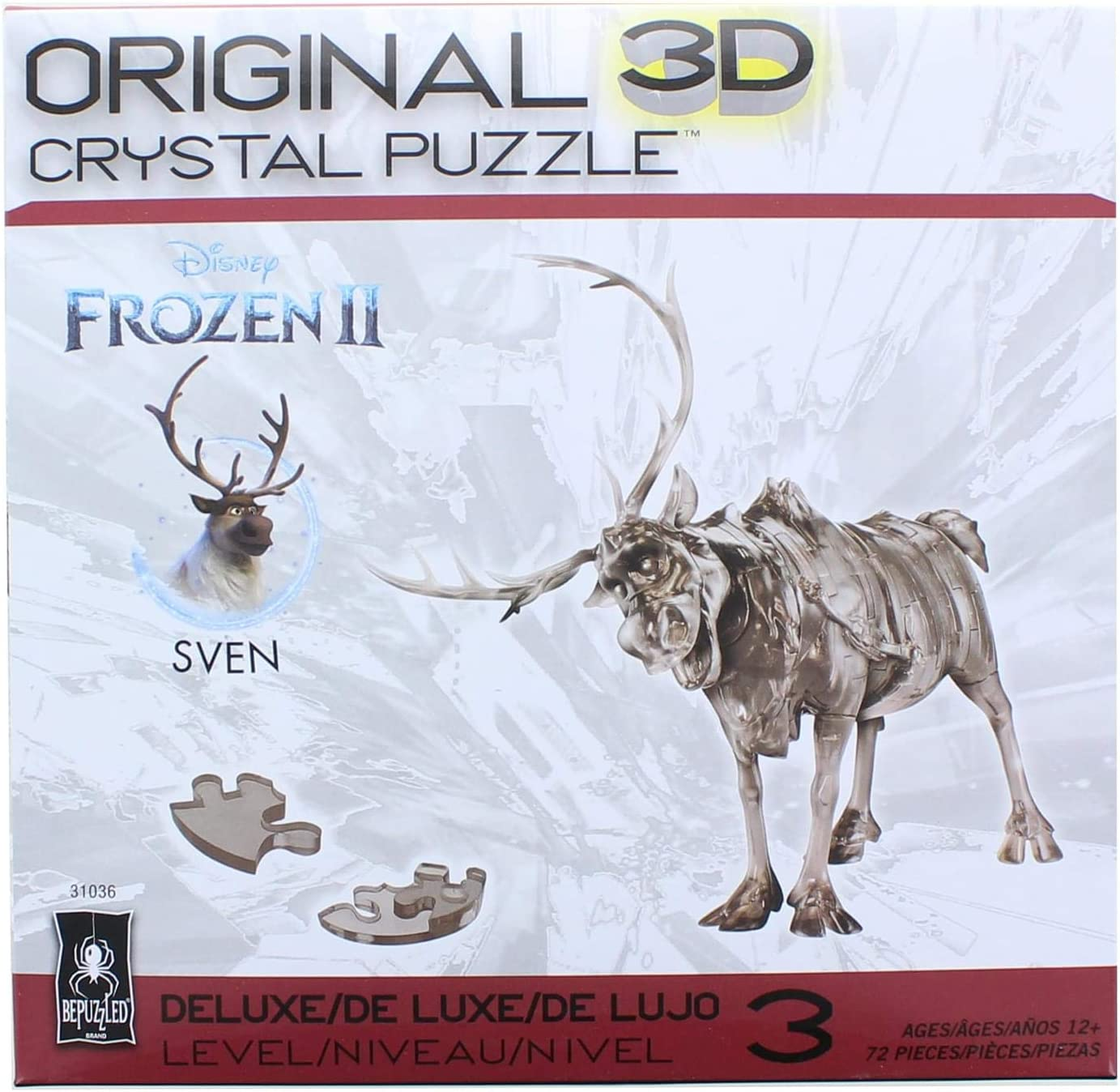 Amazon Com Bepuzzled Sven The Reindeer Frozen Deluxe Original 3d Deluxe Licensed Crystal Puzzle Fun Yet Challenging Brain Teaser That Will Test Your Skills And Imagination For Ages 12 Toys Games