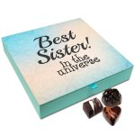 Chocholik Rakhi Gift Box – You are The Best Sister in The Universe Chocolate Box for Sister – 9pc