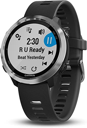 """Garmin 010-01863-20 Forerunner 645 Music, GPS Running Watch with Pay Contactless Payments, Wrist-Based Heart Rate and Music, Black, 1.2"""""""