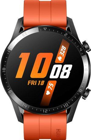 Στα 200 ήταν ακριβό.. στα 186?? HUAWEI Watch GT 2 (46 mm) – mit Herzfrequenz-Messung, Musik Wiedergabe & Bluetooth Telefonie – 5ATM wasserdicht + 5EUR Amazon Gutschein, Sunset Orange