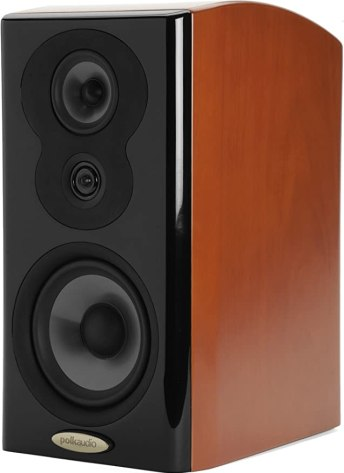 Polk Audio LSiM 703 Flagship Bookshelf Speaker | Dynamic Balance & PowerPort Technology | Bi-Wire & Bi-Amp | Single, Mount Vernon Cherry