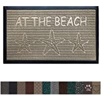 Gorilla Grip Original Durable Rubber Door Mat, 29x17, Heavy Duty Doormat, Indoor Outdoor, Waterproof, Easy Clean, Low-Profile Mats for Entry, Garage, Patio, High Traffic Areas, Beach Sand