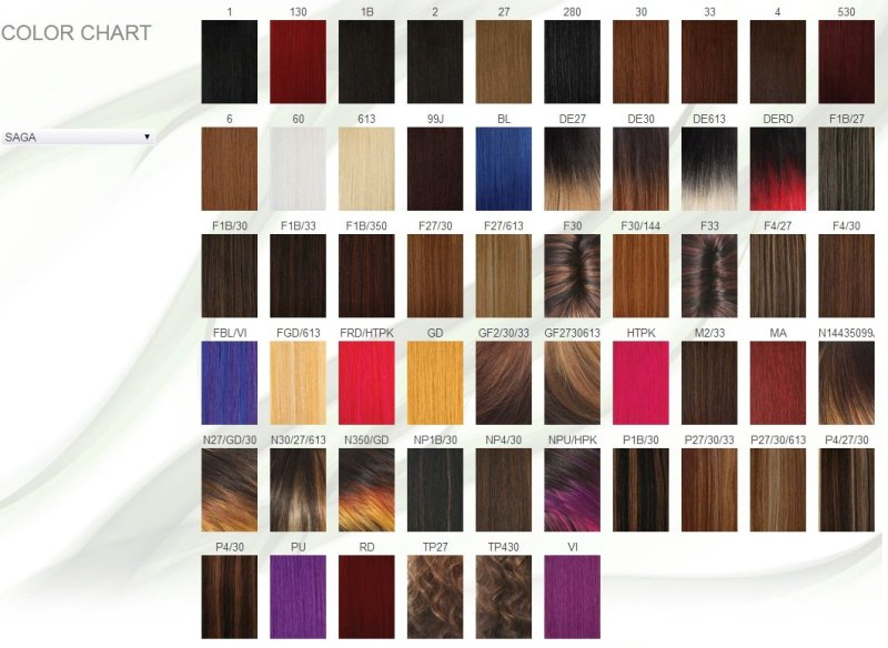 Saga Remy Hair Color Chart Coloringsite