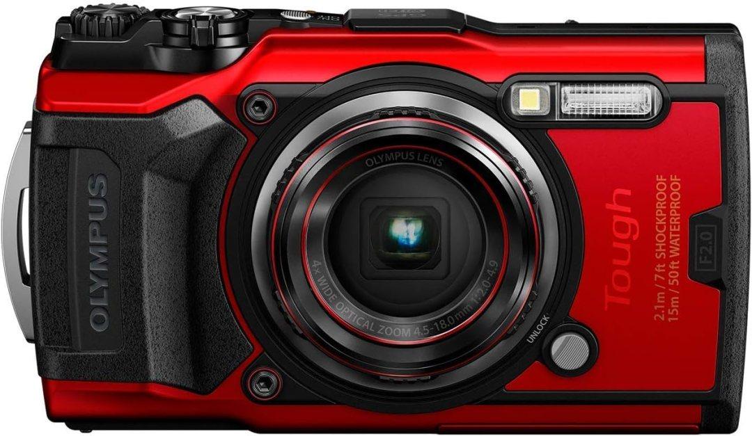 Olympus Tough TG-6 Appareil Photo, 12 mégapixels, 4K vidéo, 120 images/s, Rouge