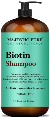 majestic pure hair loss shampoo