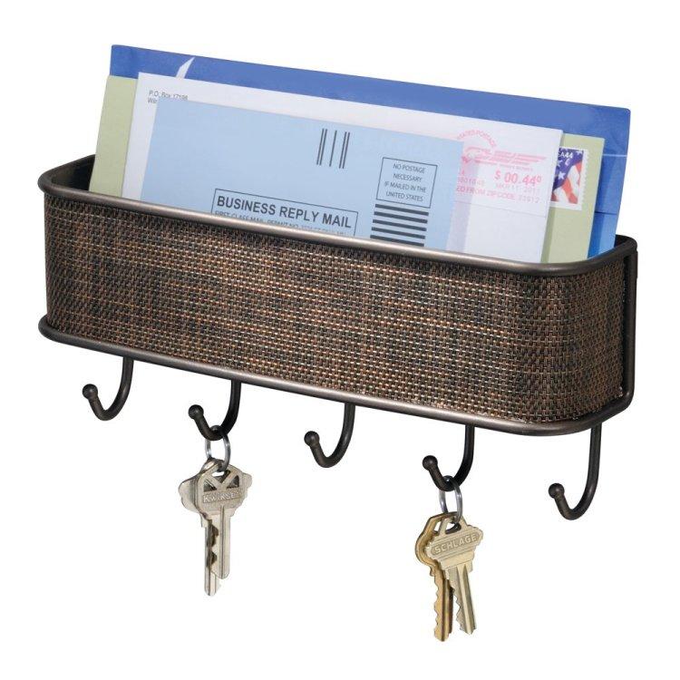 InterDesign Twillo Mail Mail/Key Organizer