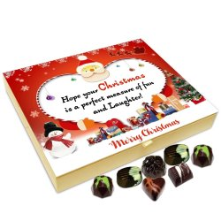Chocholik Christmas Gift Box – Hope Your Christmas is Perfect Measure of Fun and Laughter Chocolate Box – 20pc