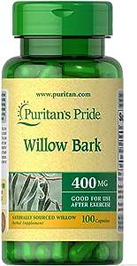 Corteza sauce blanco 400 mg. White willow bark 100