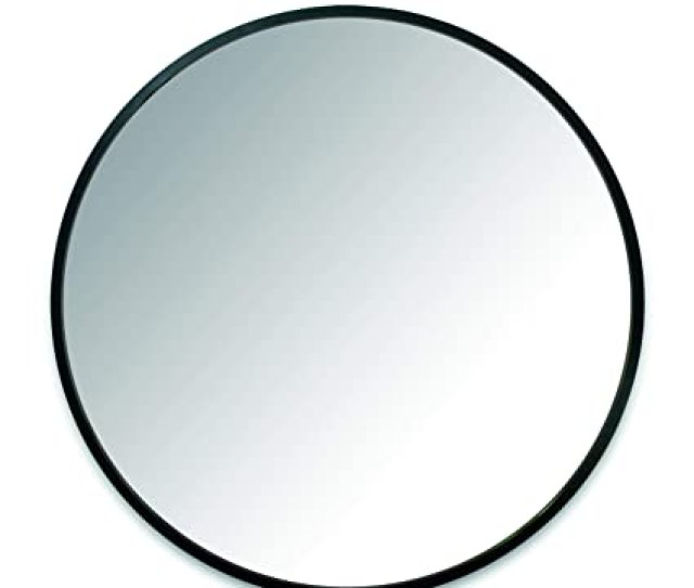 Amazon Com Umbra Hub Wall Mirror With Rubber Frame 24 Inch Round Wall Mirror For Entryways Washrooms Living Rooms And More Doubles As Modern Wall Art