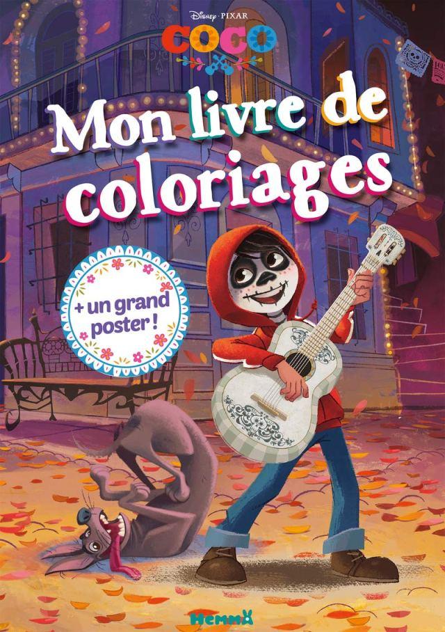 Disney Coco Mon livre de coloriages + Un grand poster (Coloriage