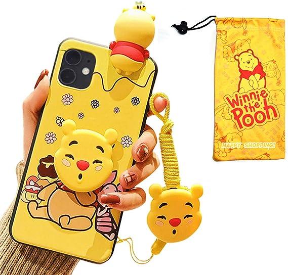 Amazon Com Vanvene Winnie Pooh Bear Iphone 11 Pro Max Case Cute Cartoon 3d Animal Character Silicone Protective Iphone 11 Pro Max Cover Case For Kids Girl Boys Teens 6 5 Inch Electronics