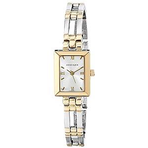 1 anne klein womens 104899svtt two tone dress watch