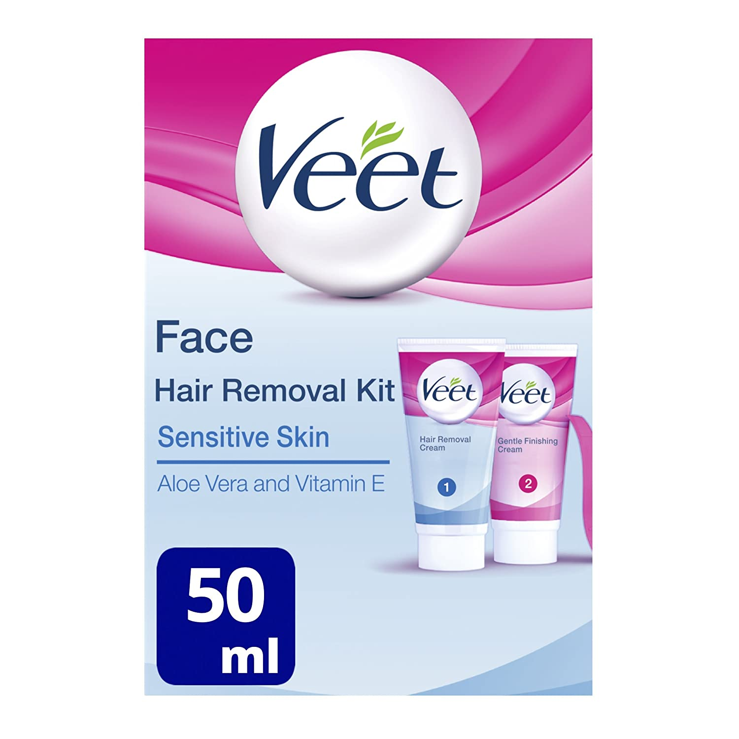Veet Face Hair Removal Kit Sensitive Skin Ml Amazon Co Uk Health Personal Care