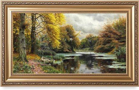 River Landscape 1903, by Peder Mork Monsted Oil Painting