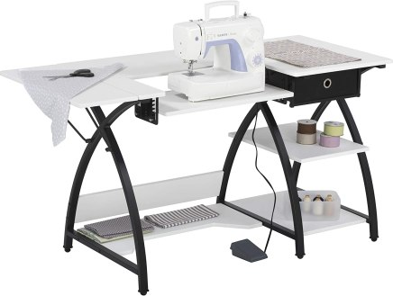 comet sewing desk with drawer and shelf