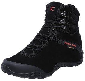 XIANG GUAN Men's Outdoor High-Top Waterproof Trekking Hiking Boots Black 10