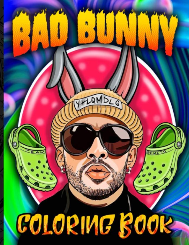 Bad Bunny Coloring Book: Bad Bunny Coloring Books For Adult And