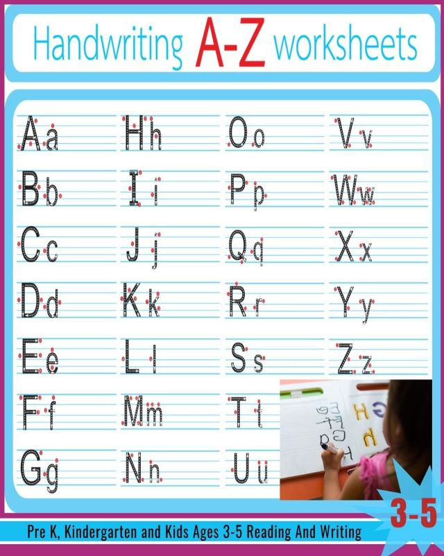 Handwriting A-Z Worksheets: Alphabet Tracing, Letter Tracing Book