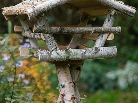 vogelhaus birkenholz kuheiga vogelhaus//futterhaus birkenvogelhaus, höhe: ca.