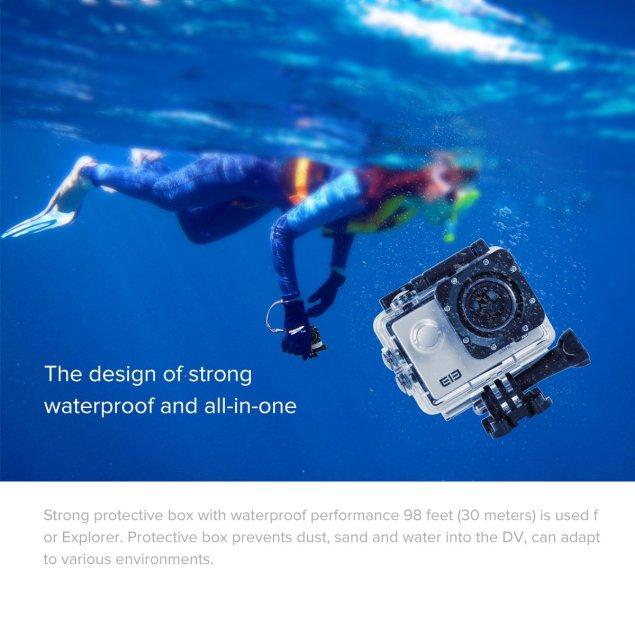 uvistar ELE ウェアラブルカメラ スポーツカメラ 30メートル防水 170度広角レンズ WIFI搭載 超高画質16MP 4K 1080P (シルバー)