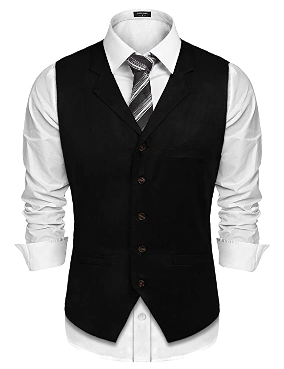 Chaleco formal para hombre negro https://amzn.to/2UoqA7w