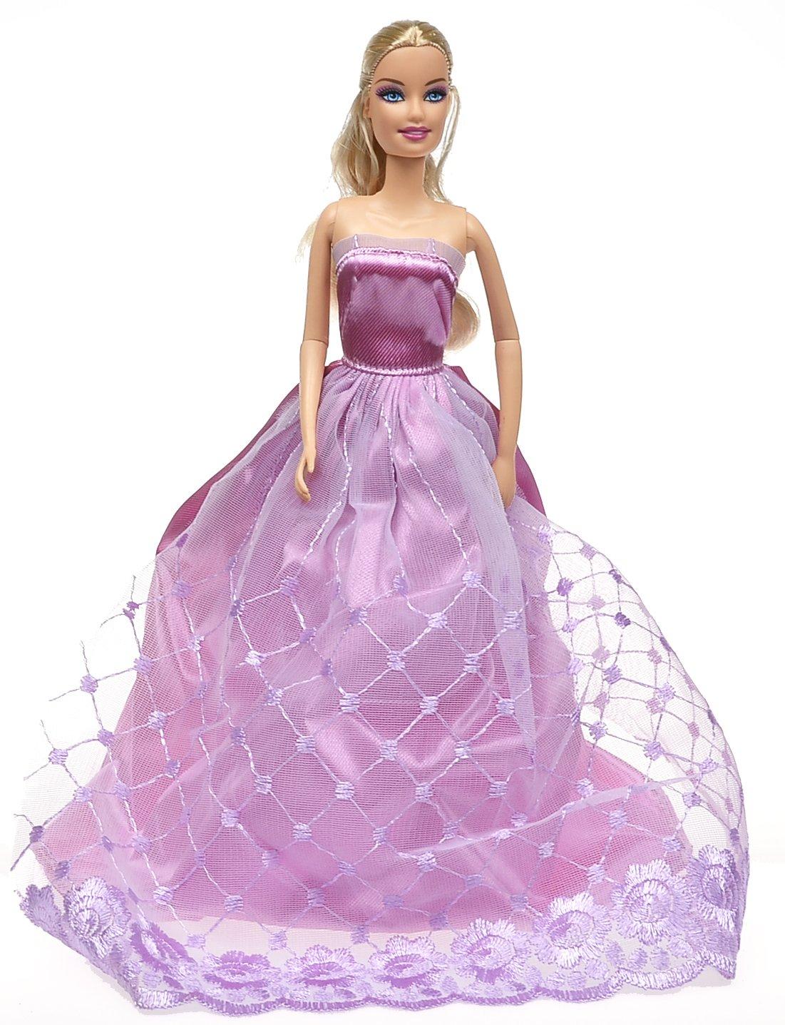 Dolls Princess Dress Gown Set,2 Pieces