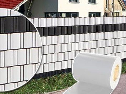 sichtschutz fuer zaun plantiflex sichtschutz rolle m blickdicht pvc zaunfolie windschutz für  doppelstabmatten zaun (weiß)