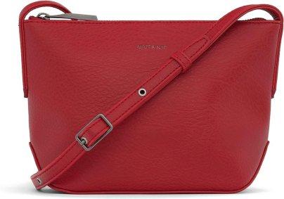 Matt & Nat Vegan Handbags, Sam Dwell Crossbody Bag, Brick - 100% Animal & Cruelty Free, Full 1 Year Warranty
