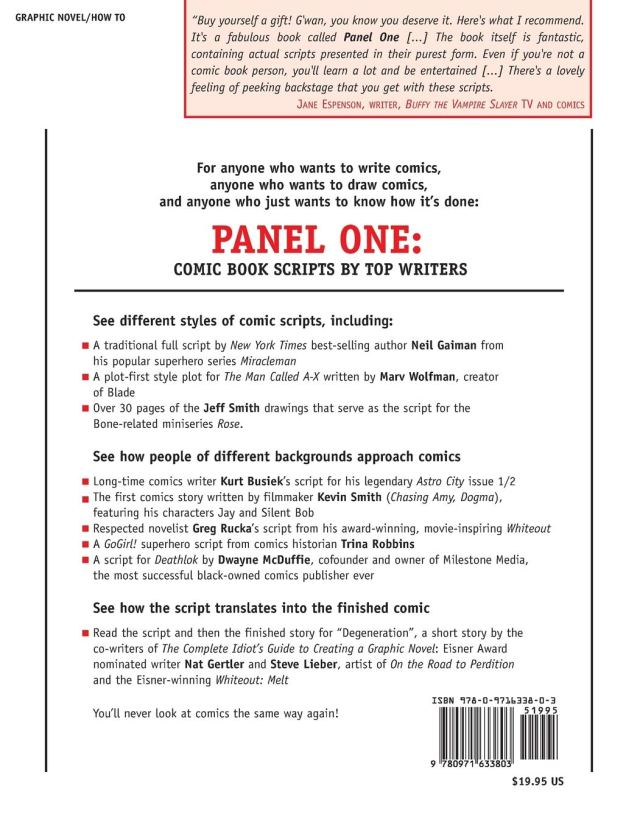 Panel One: Comic Book Scripts By Top Writers (Panel One Scripts by