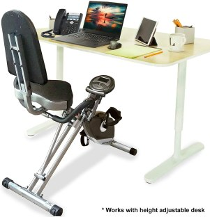 best commercial foldable recumbent exercise bike - EXERPEUTIC 300SR