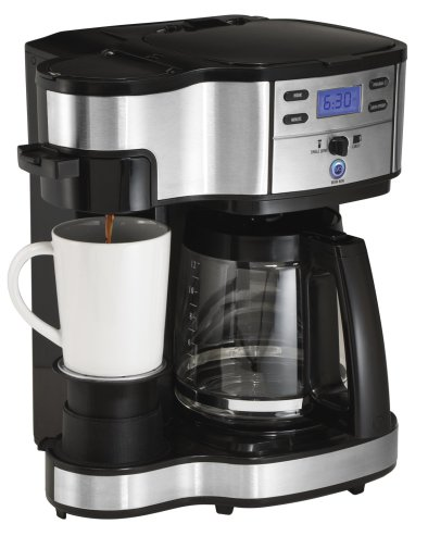 Hamilton Beach 49980A Coffee Maker, Single Serve, Black/Stainless Steel