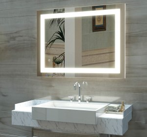 HAUSCHEN LED Lighted Bathroom Wall Mounted Mirror
