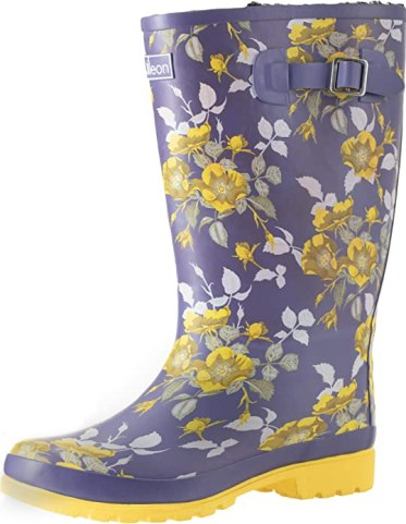 """Jileon Wide Calf Women Rain Boots 
