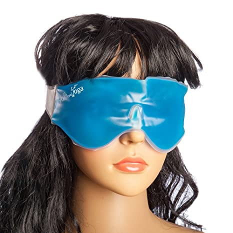 Image result for Healthandyoga Relaxing Gel Eye Mask with Stick-On Straps