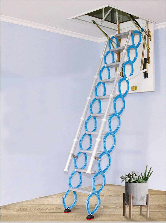 Invisible Loft Ladder Alloy Hole Retractable Folding Attic Stairs   Folding Attic Stairs With Handrail   Attic Remodel   Attic Renovation   Ceiling   Stira   Rainbow F2260
