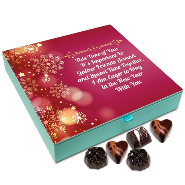 Chocholik New Year Chocolate Box – I Am Eager To Ring Into The New Year With You Chocolate Box – 9Pc