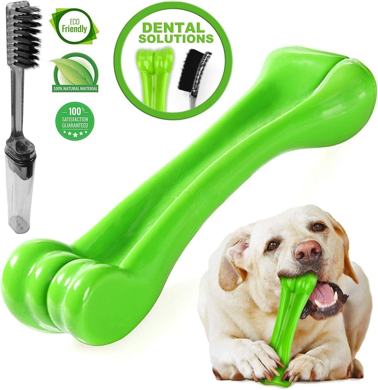 TGetWorth Juguete masticable para Perros duraderos - oneisall Bone Chew Toy para masticadores agresivos - Juguetes indestructibles para Perros Grandes