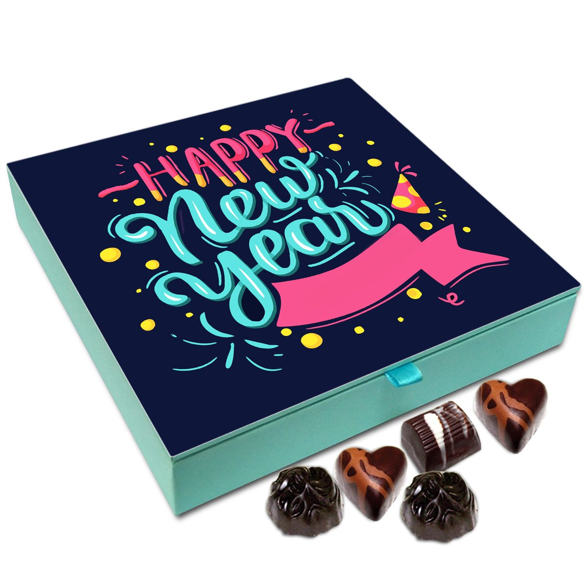 Chocholik New Year Chocolate Box – Happy New Year to All Near and Dear Chocolate Box – 9pc