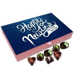 Chocholik New Year Gift Box – Happy New Year My Love My Life Chocolate Box – 12pc