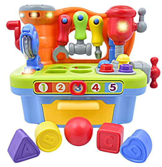 Deluxe Toy Workshop Playset for Kids with Interactive Sounds & Lights